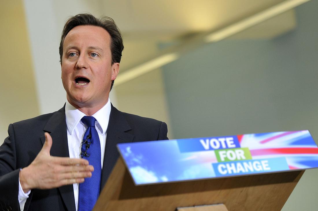 David Cameron MP visits Open University Milton Keynes